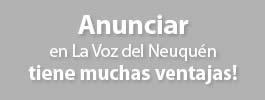 Anuncia en La Voz del Neuquén